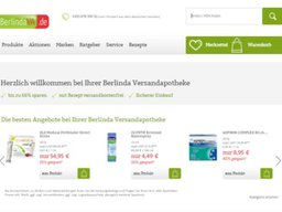 Berlinda Versandapotheke Screenshot